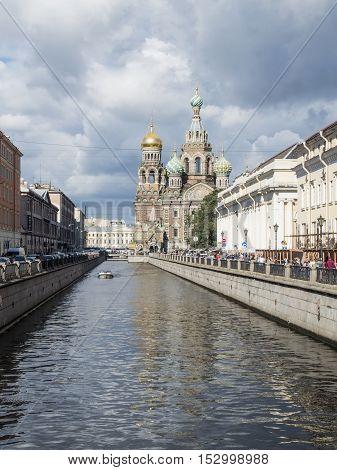 Church of the Savior on Blood in Saint-Petersburg, Russia