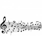 template with music notes poster