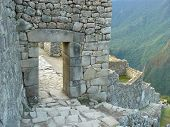 Machu Picchu - the ancient Inca city on the territory of modern Peru . poster