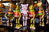 Animal hanging dolls image in gift shop Thailand poster