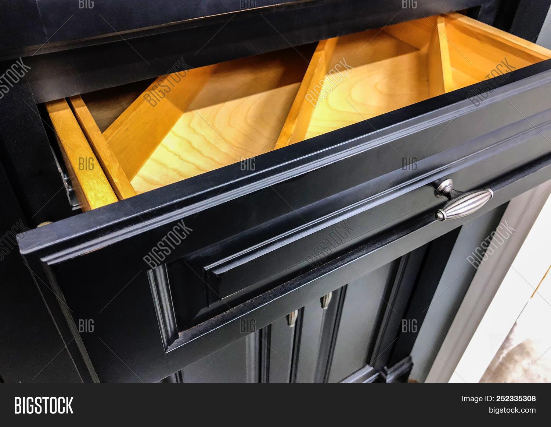 Black Kitchen Cabinets Image & Photo (Free Trial) | Bigstock