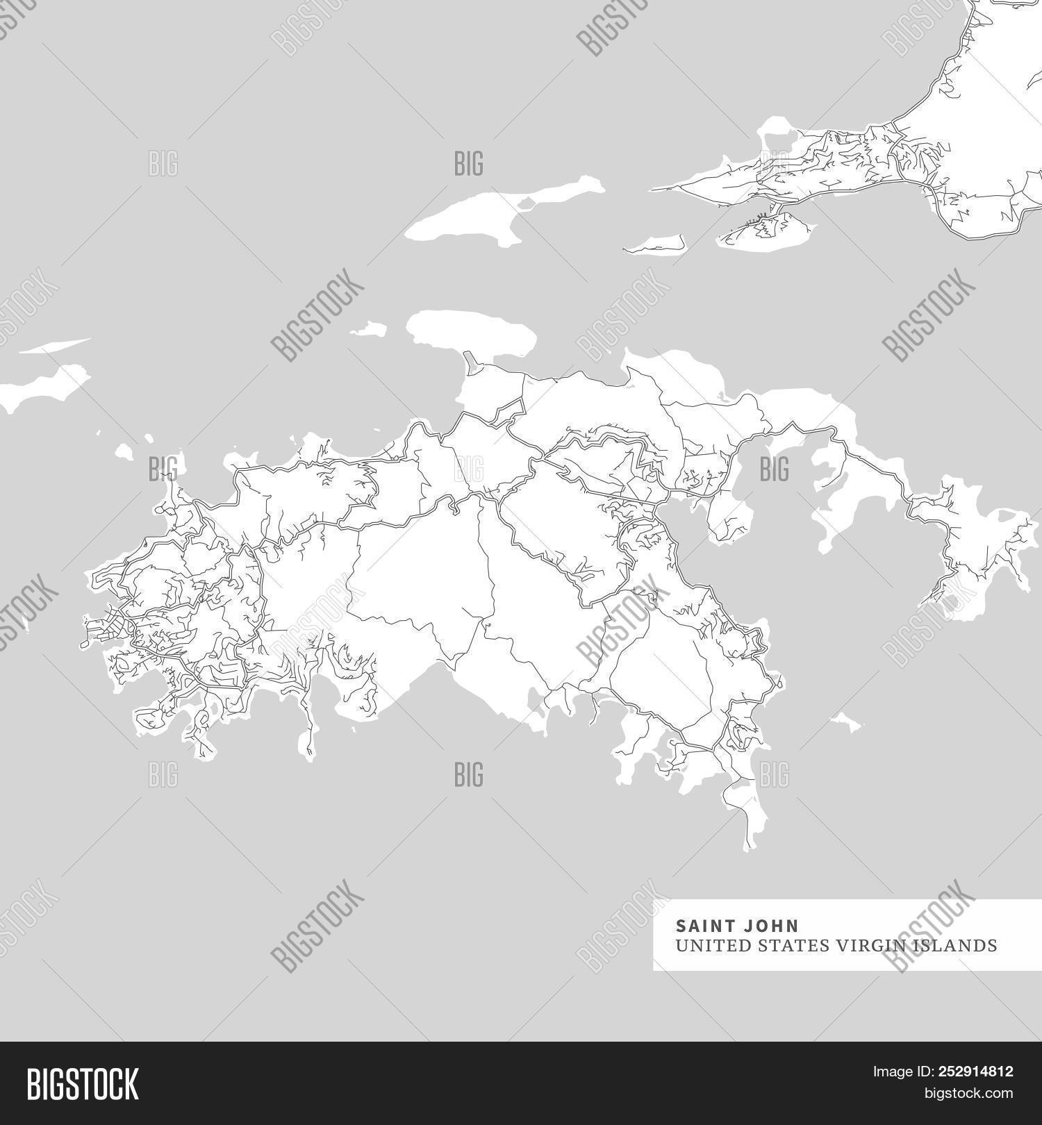 Map Saint John Island Vector & Photo (Free Trial) | Bigstock