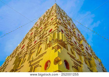 Stupa In Bodh Gaya In Sangkhla Buri District Kanchanaburi Thailand