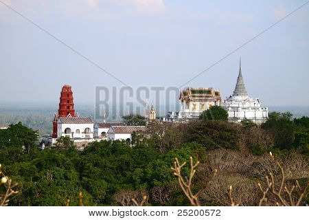 View Of Maha Samanaram Temple In Petchburi ,thailand