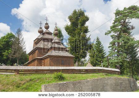 Slovakia, Prešovský Kraj, Bodruzal, Wooden Greek-catholic Church, Unesco Site, Sunlit