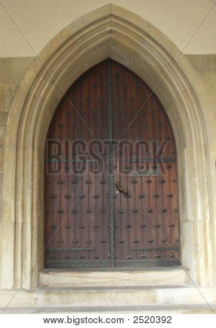 Arched Church Door