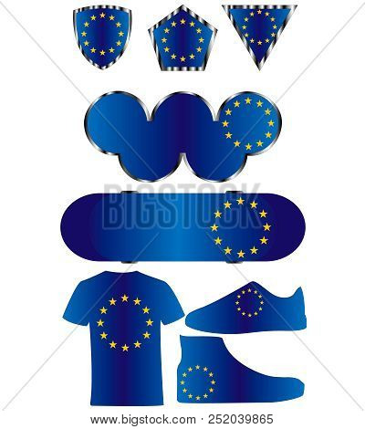 Flag Of The European Union, Icons Of Colors Of The Flag Of The European Union
