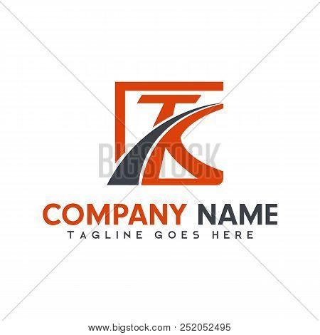Abstract Logotype Letter T And K, Modern Logo For Industry And Business, Vector Logo Tempalte