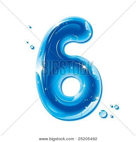 ABC series - Water Liquid Numbers - Number Six