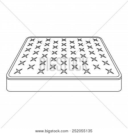 King Size Mattress Icon. Outline King Size Mattress Vector Icon For Web Design Isolated On White Bac