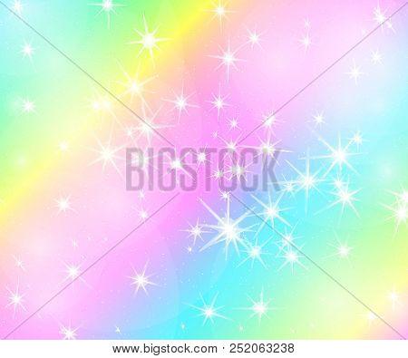 The unicorn pattern in pastel color. Vector mermaid illustration. Unicorn background.