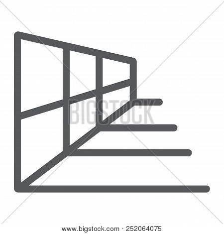 Perspective Grid Tool Line Icon, Tools And Design, Perspective Sign, Vector Graphics, A Linear Patte