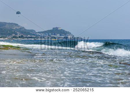Mediterranean Coast, Waves, Sea Water, Turkish Coast, Summer, Parachute