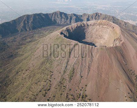 Aerial View Of Scenic Mount Vesuvius, Naples In Campania, Italy