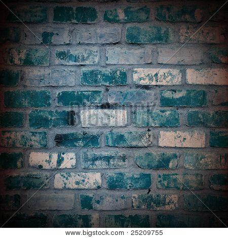 blue brick vintage style