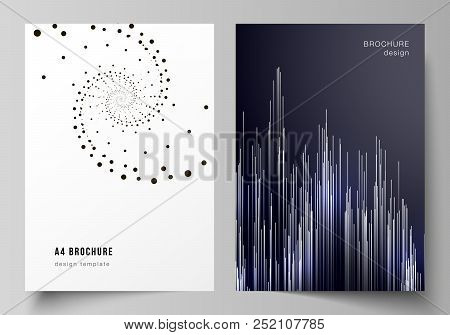 Vector Layout Of A4 Format Modern Cover Mockups Design Templates For Brochure, Magazine, Flyer, Book
