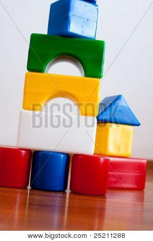 Plastic  Building Block House