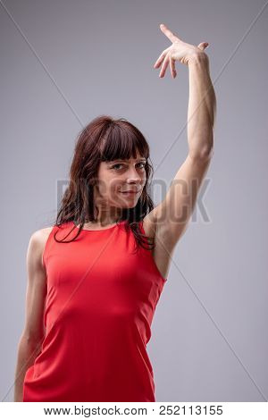 Woman Diva Gesturing With Her Hand