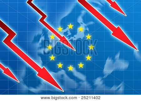 Eu Crisis Concept Illustration