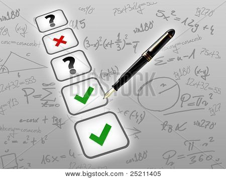 Mathematic Test Exam Concept