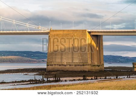 Concrete Gravity Anchorage For Cables On The Old Severn Bridge, United Kingdom.