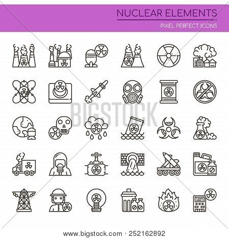 Nuclear Elements , Thin Line And Pixel Perfect Icons