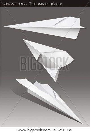 Set vector - paper plane 2