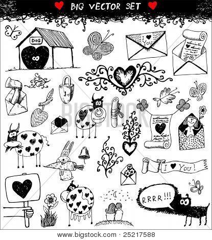 doodle set : love poster