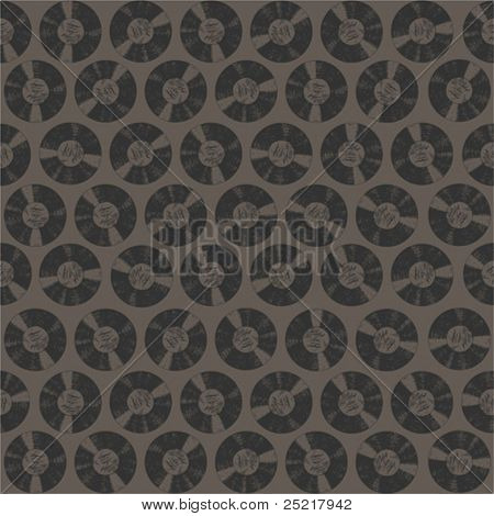Seamless pattern - vinyl records