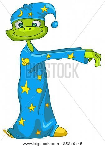Cartoon Character sleepwalker Isolated on White Background. Vector. poster