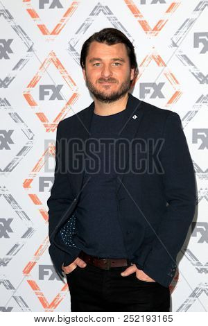 LOS ANGELES - AUG 3:  Justin Rosniak at the FX TCA Starwalk - Summer 2018 on the Beverly Hilton Hotel on August 3, 2018 in Beverly Hills, CA