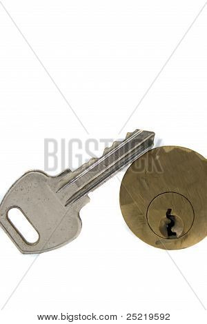 Door key with lock