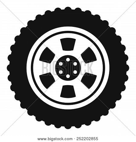 One Tire Icon. Simple Illustration Of One Tire  Icon For Web