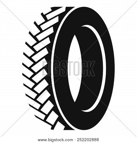 One Tyre Icon. Simple Illustration Of One Tyre  Icon For Web