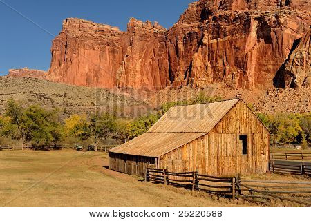 Old West barn and ranch