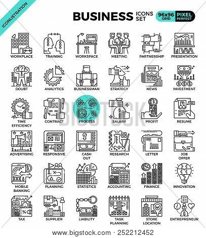 Business Concept Icon Illustration Set