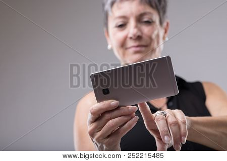 Attractive Woman Using A Mobile Phone