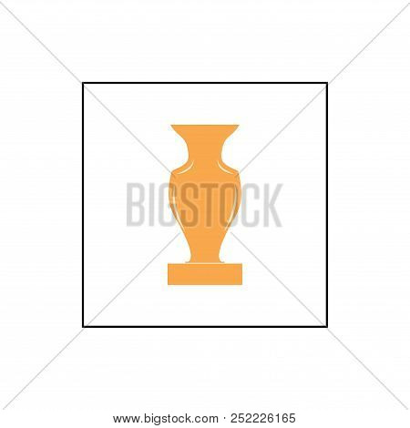 Gold Cup Award In Square. Modern Symbol Of Victory, Award Achievement Sport. Insignia Ceremony Award