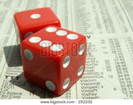 Red Dice On Stock Report