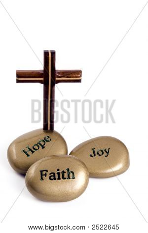 Inspirational Stones With Cross