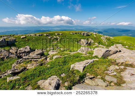 Fresh Summer Landscape In Mountains. Beautiful Location Of Carpathian Mountain. Explore The World Co