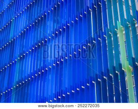 Acrylic Plastic Sheet Interior Two Tone Blue And Dark Blue
