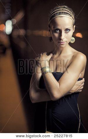Girl Posing On The Street