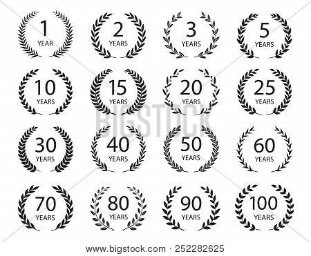 set anniversary vector photo free trial bigstock