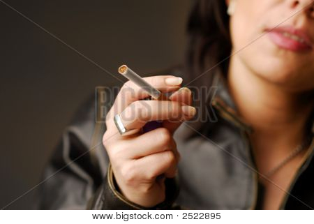 A Lighted Cigarette