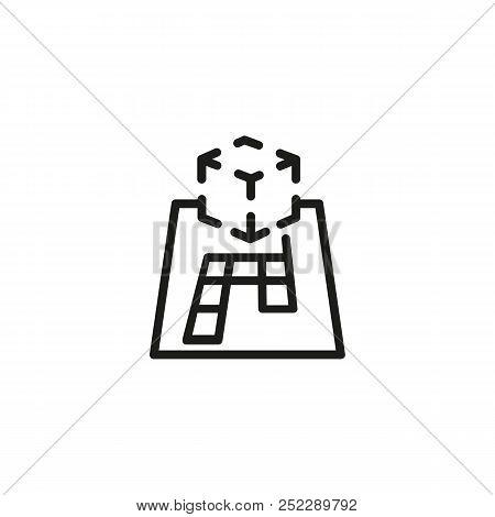 Ar Projection Line Icon. 3d Maquette, Construction, Prototype. 3d Printing Concept. Vector Illustrat