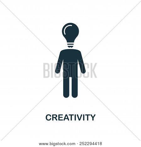 Creativity Creative Icon. Simple Element Illustration. Creativity Concept Symbol Design From Soft Sk