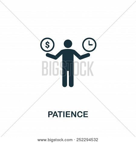Patience Creative Icon. Simple Element Illustration. Patience Concept Symbol Design From Soft Skills