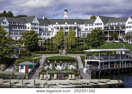 Lake George - October 8: The Historical Sagamore Hotel Opened In 1893 In Lake George, New York State