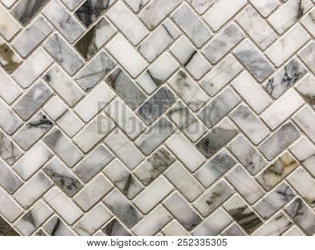 Tile walls. Marble texture on white marbled tile, closeup photo on marbled tile surface on marbled floor show marble tile texture, black and white image, pattern background, marble background, texture background